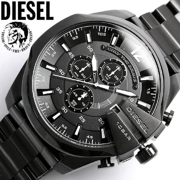 Used Diesel copy watch only the brave for him in Dubai, UAE