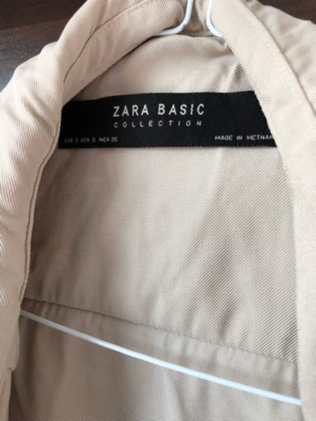 Used Zara beige jacket size s in Dubai, UAE