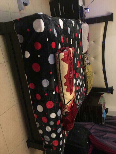 Used Black king size bed with new mattress in Dubai, UAE