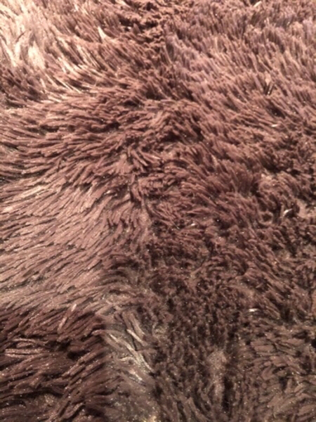 Used Brown very soft rug. Perfect condition in Dubai, UAE