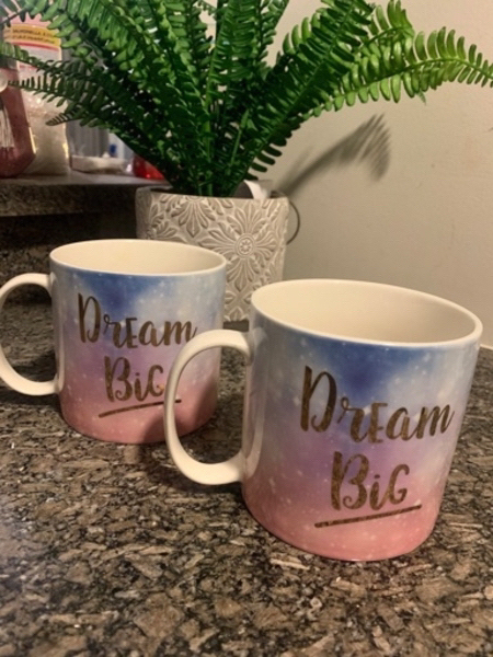 Used Extra Large Dream Big Mugs in Dubai, UAE