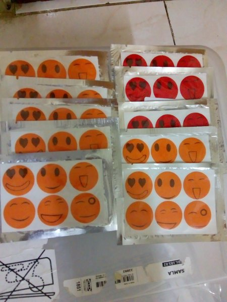 Used Bundle smiley stickers+tshirt for kids in Dubai, UAE
