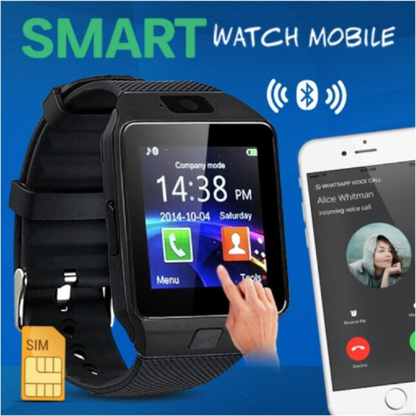 Used New excellent quality black smart watch in Dubai, UAE