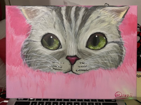 "Used ""Kitty"" Acrylic on Canvass Painting in Dubai, UAE"