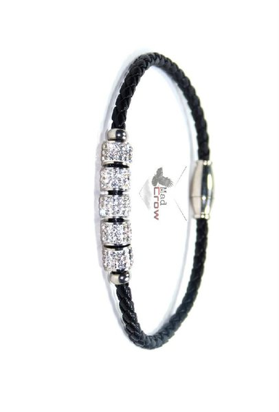 Used Unisex bracelet black leather in Dubai, UAE