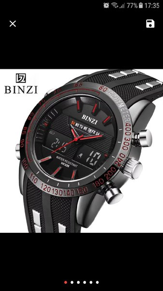 Binzi Men sport watch digital analog