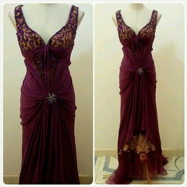 Used Elegant long dress party dress in Dubai, UAE