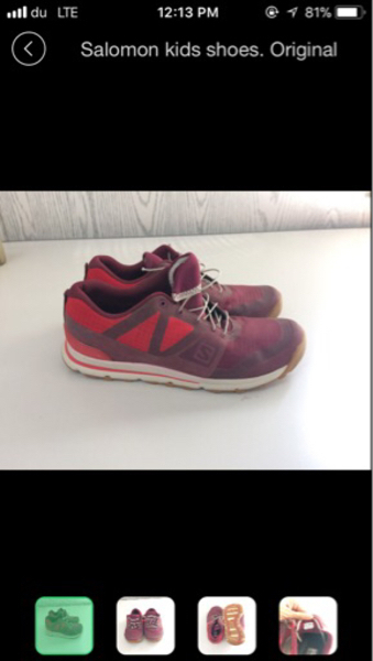 Used Kids Shoes Salmon Brand in Dubai, UAE