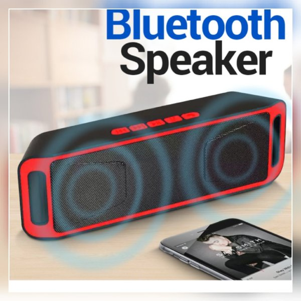 Used Small size red and black speaker in Dubai, UAE