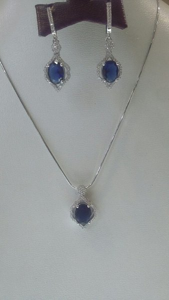 Used Silver 925 pendent set blue stone in Dubai, UAE