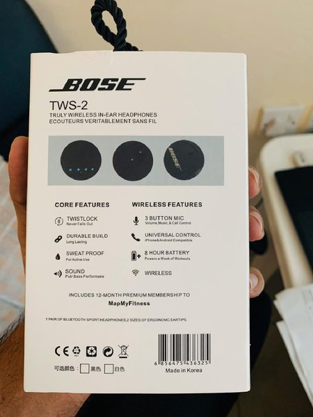 Used Bose Wirless Earphones tws2 white color in Dubai, UAE