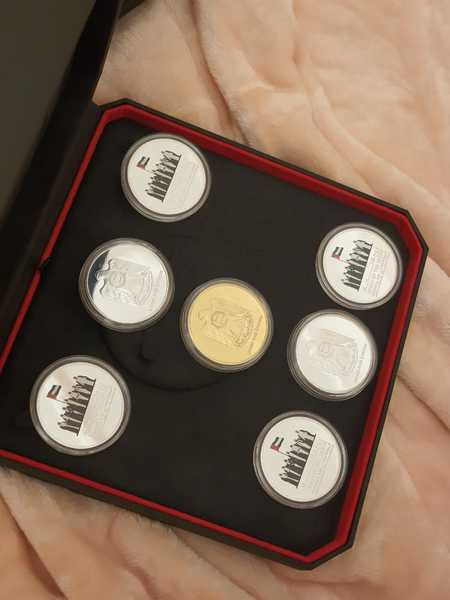 Used 7 coins in box & 1 extra coin free in Dubai, UAE
