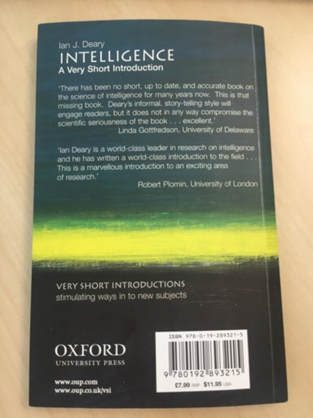 Introduction to Intelligence book