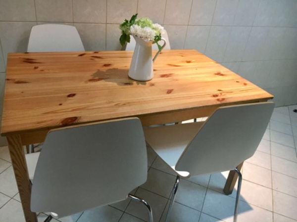 Used IKEA Dining table with 4 chairs in Dubai, UAE