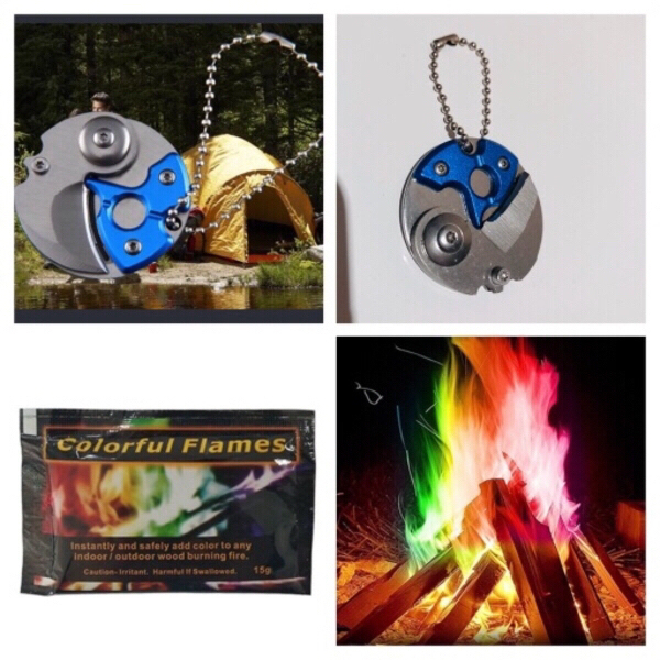 Used Color flames+key chain knife +shoulders in Dubai, UAE