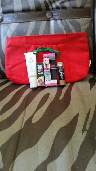 Used Bundle of make up and a new red pouch. in Dubai, UAE