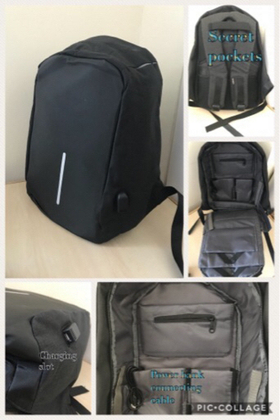Used Anti theft back pack  Unisex  in Dubai, UAE