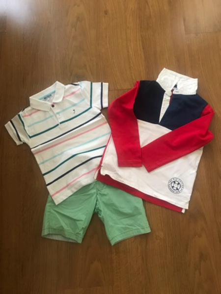Used Boys pair of shorts & 2 boy's tops in Dubai, UAE