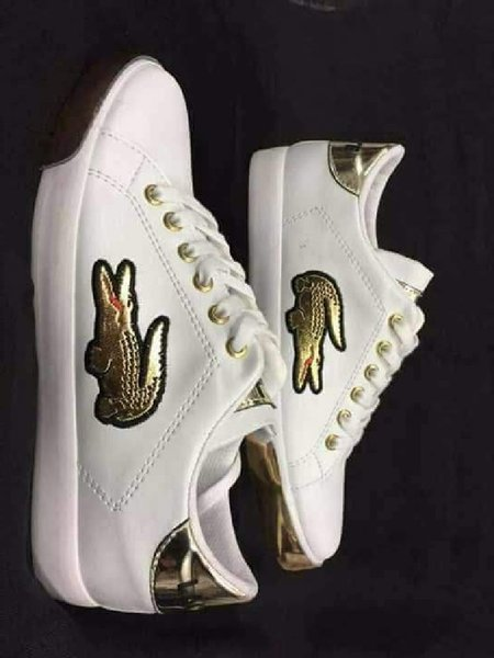 Used LACOSTE SNAKER SHOES WHITE/GOLD in Dubai, UAE