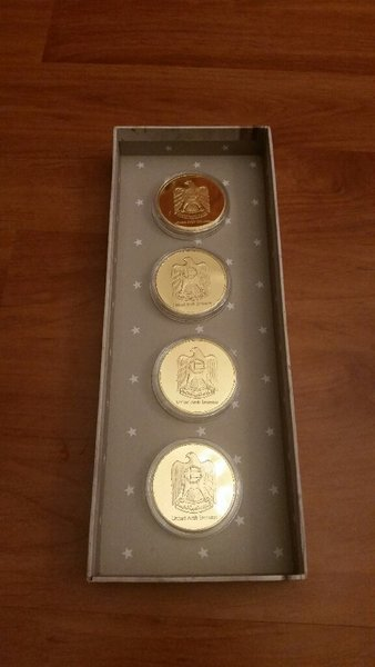 Used 4 coins gold plated in Dubai, UAE