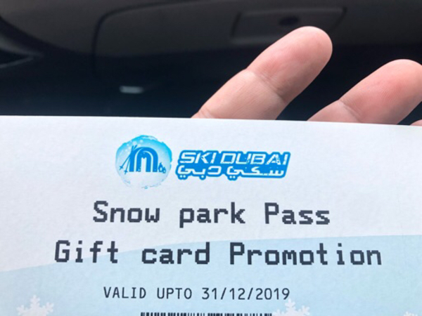 Used Ski Dubai Snow Park access tickets in Dubai, UAE