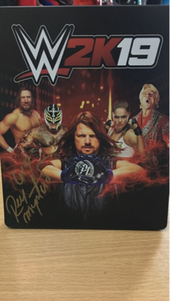 Used WWE 2k19 with Rey Mysterio's autographs in Dubai, UAE