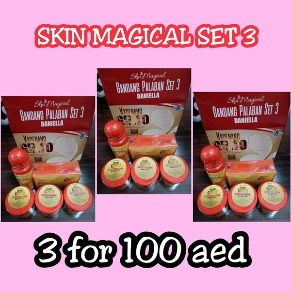Used SKIN MAGICAL SET3 (3 FOR 135) in Dubai, UAE