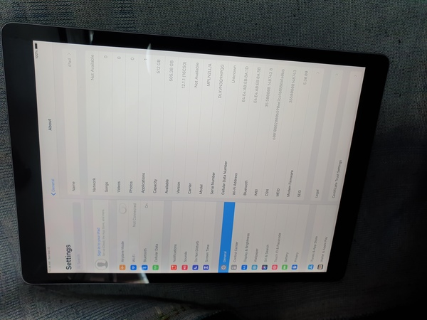 Used Apple ipad pro12.9..512gb 2nd generation in Dubai, UAE