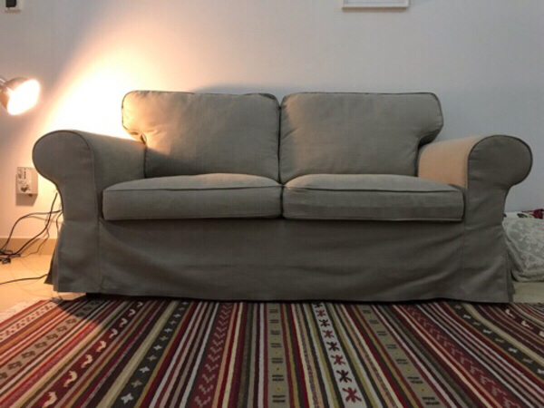 Used Two-seat sofa, Nordvalla dark beige in Dubai, UAE