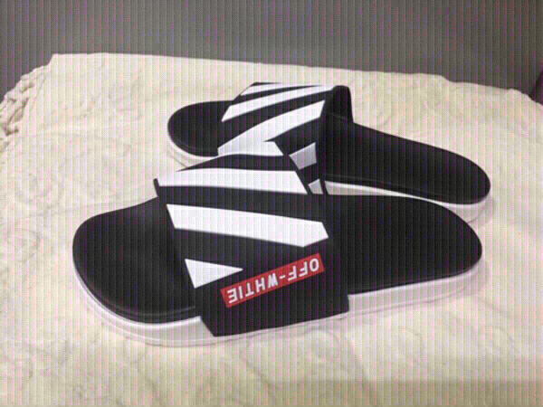 Used Off white mens slippers size 42 new in Dubai, UAE