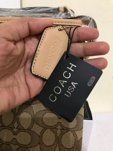 Coach 2 pockets - light brown