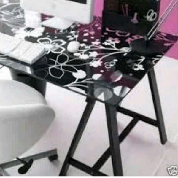 Used Ikea Glass Table with Side Swivel Chair in Dubai, UAE