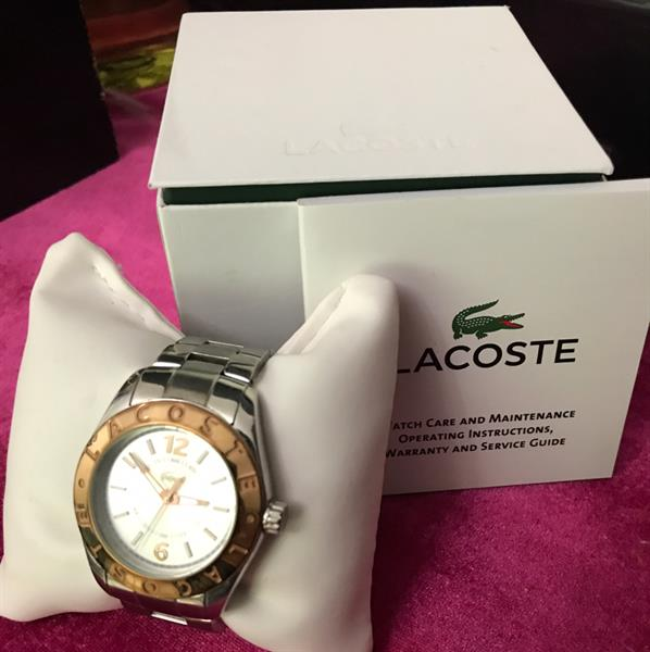 Used Authentic Lacoste Watch ⌚️ Gold And Silver Lovely Watch ⌚️❤️ in Dubai, UAE