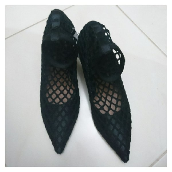 Used Brand New ZARA Fishnet Heels in Dubai, UAE