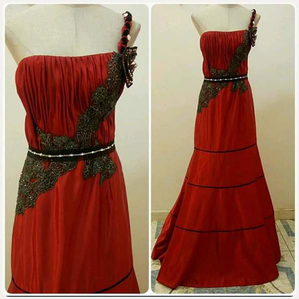 Used New Red Long Dress for Women amazing. in Dubai, UAE