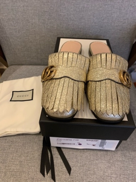 Used New Authentic Gucci GG Marmont slippers in Dubai, UAE