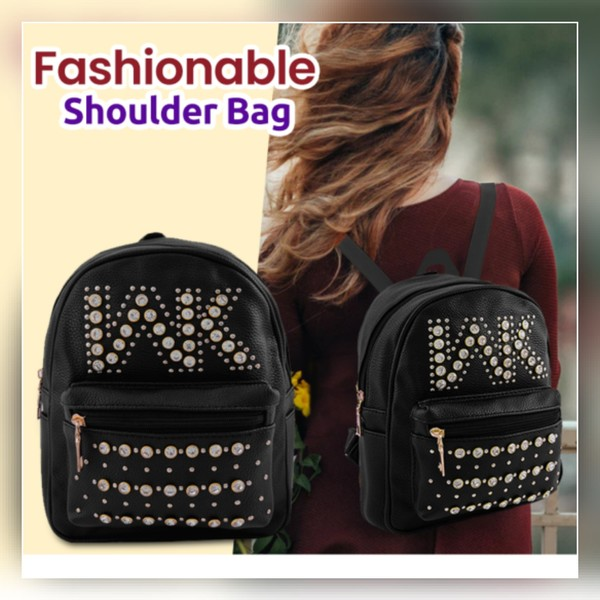 Used New fashionable black backpack for girls in Dubai, UAE