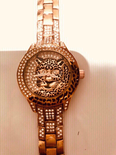 Used DIAMOND LOOK WOMAN'S WATCH TIGER DESIGN in Dubai, UAE