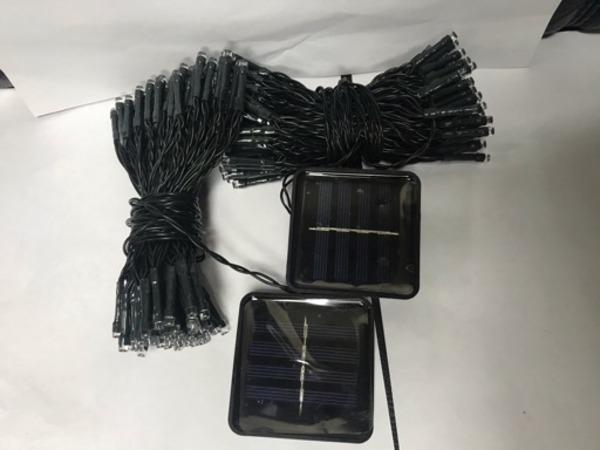 Used Led fairy lights 100 head solar  2 pcs in Dubai, UAE