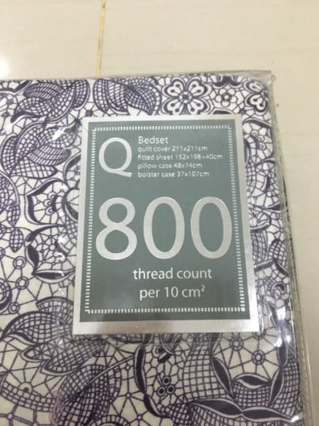 Used Queen sheets & quilt cover 800 threadct  in Dubai, UAE