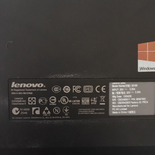 "Used Lenovo G580 15.6"" laptop  in Dubai, UAE"