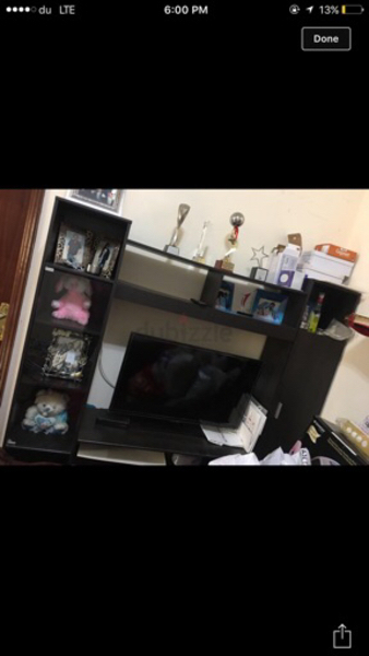 Used Tv wall unit from home center in Dubai, UAE