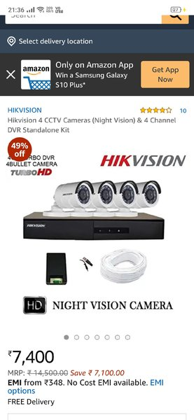 Used CCTV CAMERA WITH FIXING - 0509109726 in Dubai, UAE