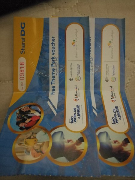Used Theme park voucher in Dubai, UAE