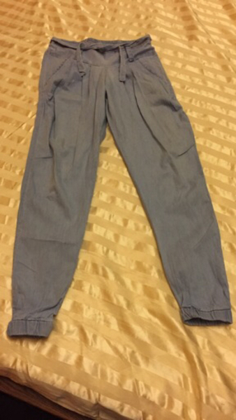 Used Girls Trousers new small size sky blue  in Dubai, UAE