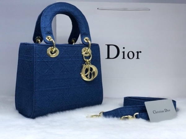 Used DIOR LADIES BAG BLUE in Dubai, UAE