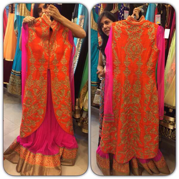 Used #longjacket #indiangown #new #pricenegotiable #designerpiece # New #silk #gown #floorlengrh in Dubai, UAE