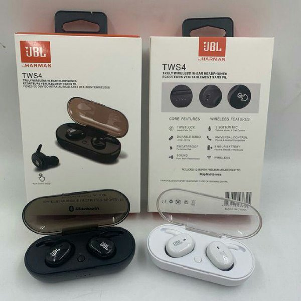 Used Jbl tws4 airpods with case pack new in Dubai, UAE