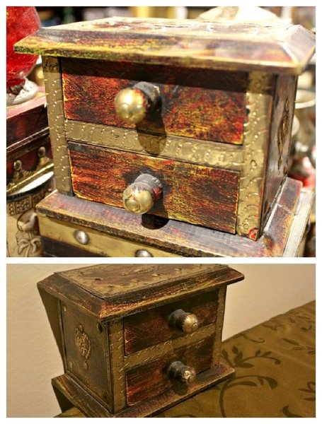 Used Drawer shape Antique Jewelry Box in Dubai, UAE
