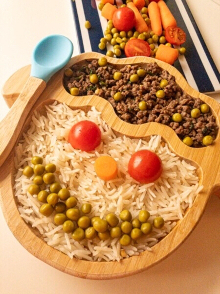 Used Bamboo baby plate with spoon in Dubai, UAE
